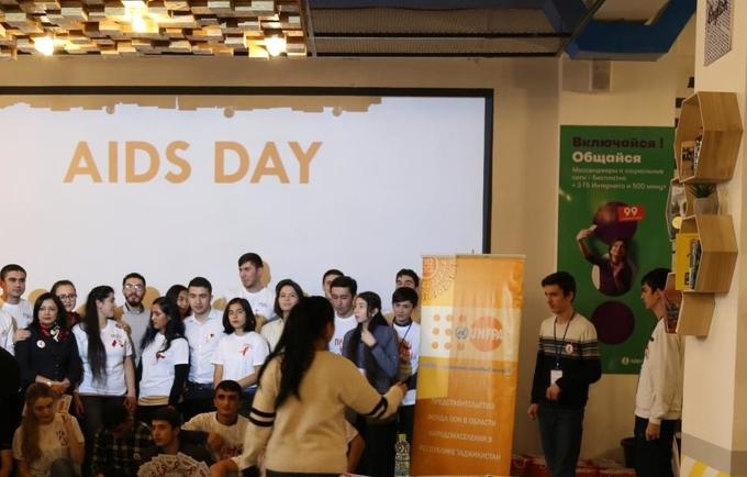 Dushanbe youth celebrated World AIDS Day